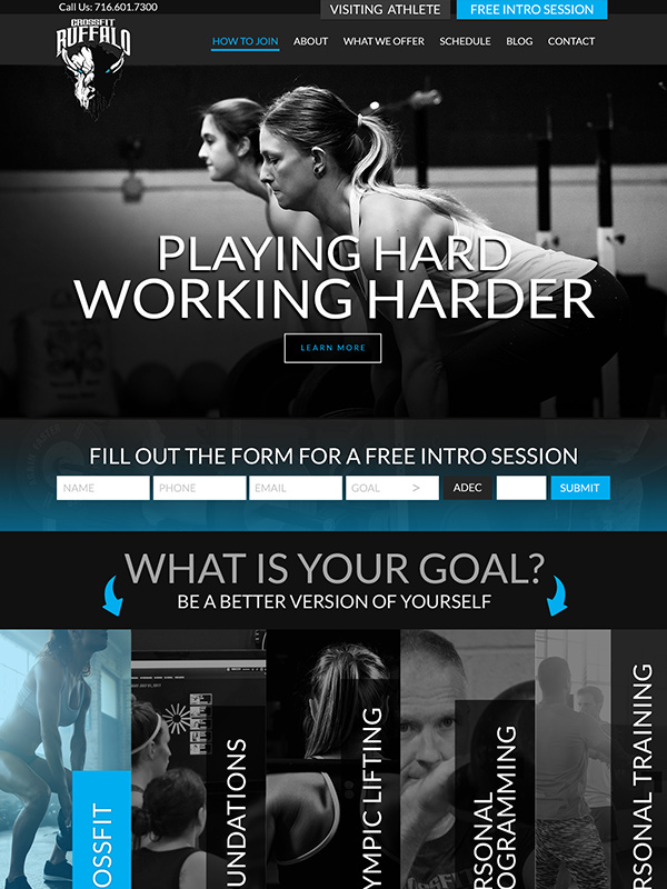 Buffalo Crossfit Gym Website Design And Gym Lead Generation