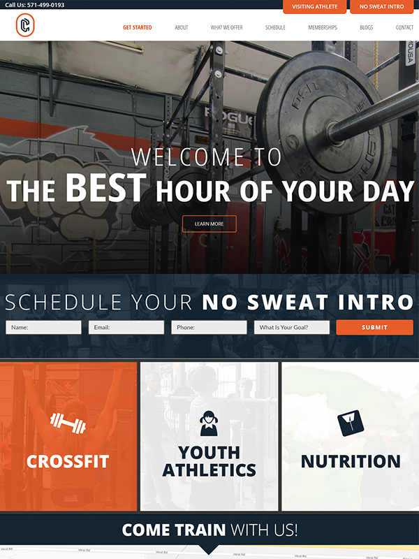 Catoctin CrossFit Website Design Featured Design Work