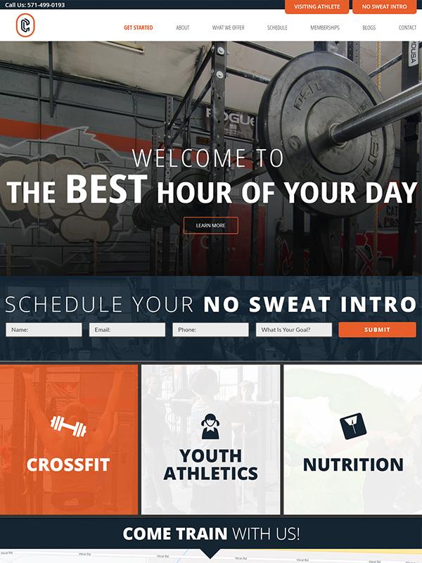 Catoctin CrossFit Website Design Featured Design Work