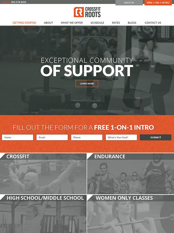 CrossFit Roots Gym Website Design