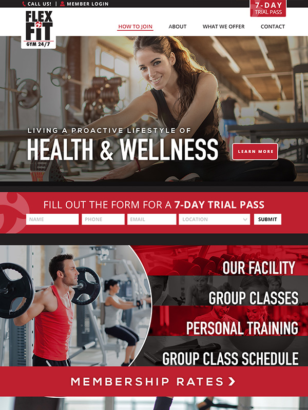 Flex Fitness Gym Website Design