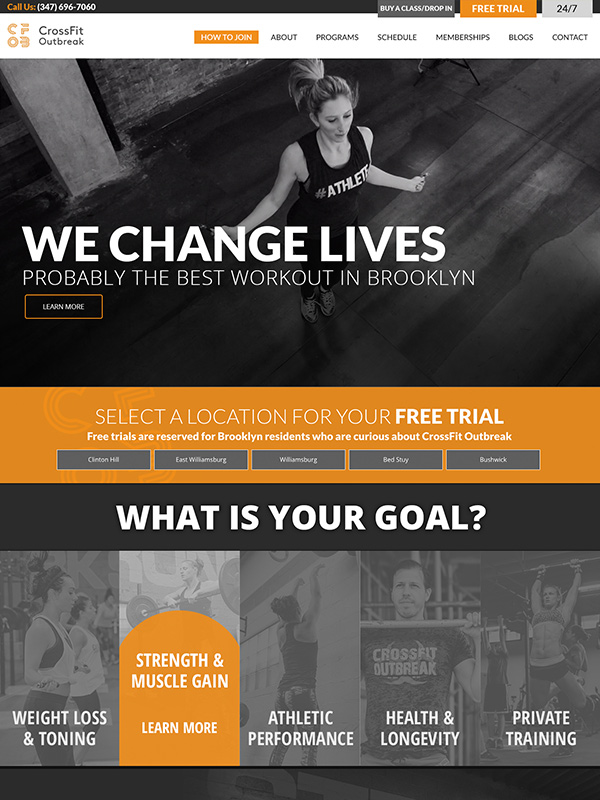 Outbreak Fitness Wordpress Website Design And Fitness Gym Theme