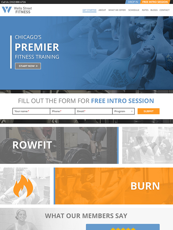 Wells Street Fitness Website Design Example Of Top 3 Best Fitness Websites