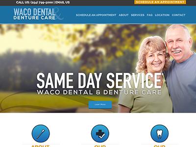 Waco Dental And Denture Website Design And Dentures In Waco Texas