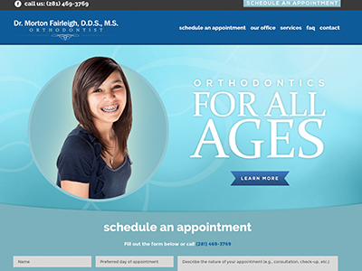 Fairleigh Orthodontic Website Design