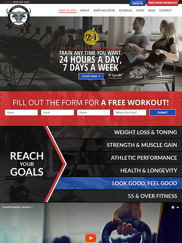 Durham Fitness Gym Google Search Engine Optimization And Website Design