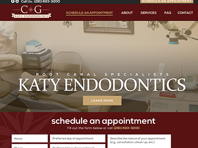 Top 3 Katy Endodontic Website Design And Google Search Engine Optimization