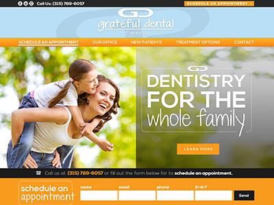 Greatful Dental Dentist Website Design And Search Engine Optimization