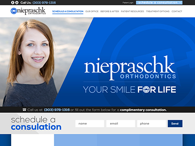 Niepraschk Ortho Website Design And Marketing With Facebook Advertising