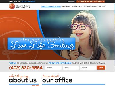 Ries Orthodontics Dental Website Design