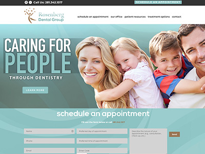 Rosenberg Dental Group Website Design
