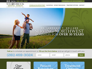 Willowbrook Dental Group Website Design