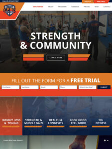 Brier Creek Strength And CrossFit Website Design