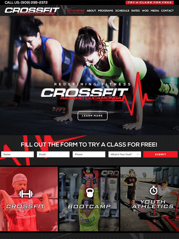 CrossFit RC Website Design And Best Gym Marketing Tools