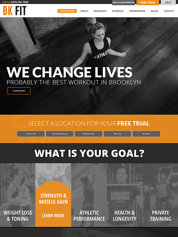Bk Fit Club Studios Website Design And Gym Marketing Automation