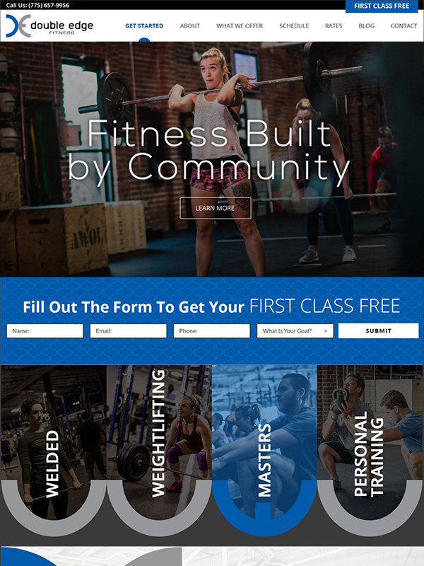 Double Edge CrossFit Website Design
