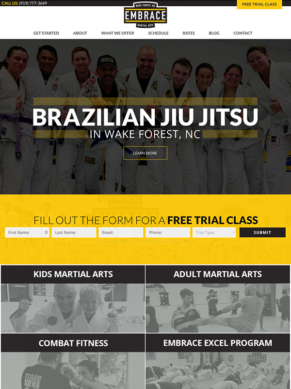 Karate Website Design And Lead Generation Winner